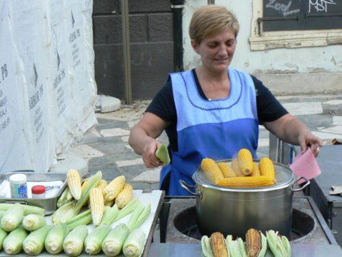 corn vendor in Zagreb