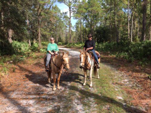Visitors can even enjoy horseback riding through the trails of Seven Creeks Recreation Area. Karen Morgan photo.