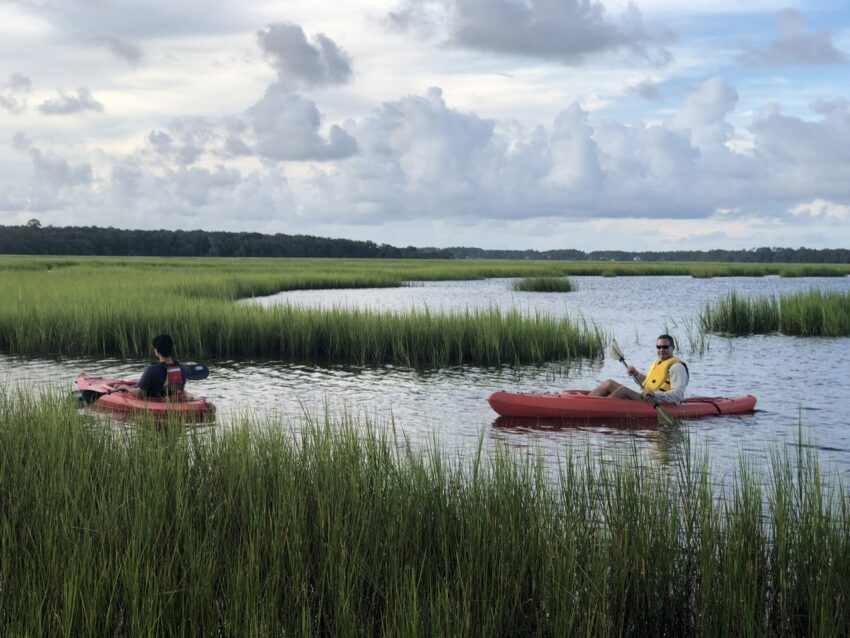 Kayak launches providing access to the extensive network of tidal creeks and rivers. Mayda Velez photo.