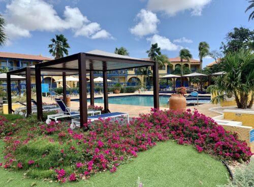 The pool at the Divi Flamingo Resort, Bonaire.
