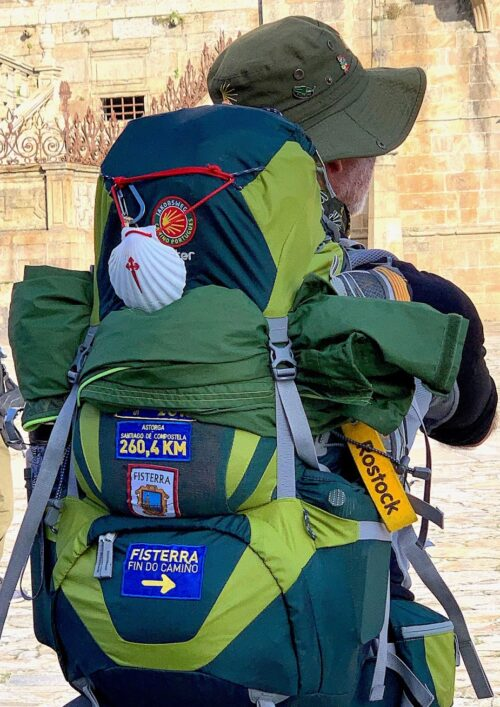 The scallop shell is the symbol for the Camino de Santiago.