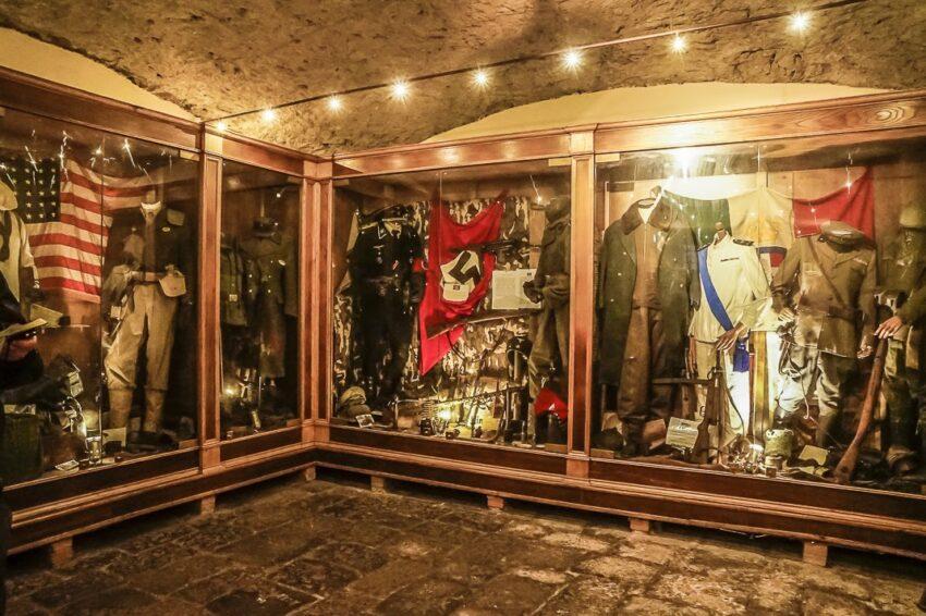 Some of the World War II paraphernalia found in the Underground.