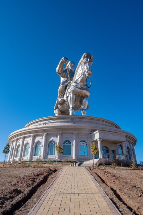 The Chinggis Khan Equestrian Statue. 131 foot heigh memorial to the most well known leader in Mongolia's history. It's an attention grabber, especially considering it's the only major building for miles around.
