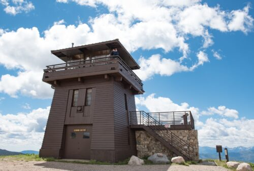 The Clay Butte Fire Lookout Tower, located three miles off the main highway, now serves as a visitor center.