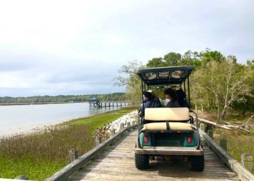 Golf Carts Exploring Daufuskie Island