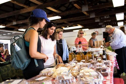Shopping at Farmers Market. Visit Frederick Photos.