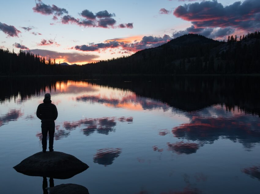 Lily Lake, a few miles off the Beartooth Highway, offers picnicking and camping, along with stunning sunsets.