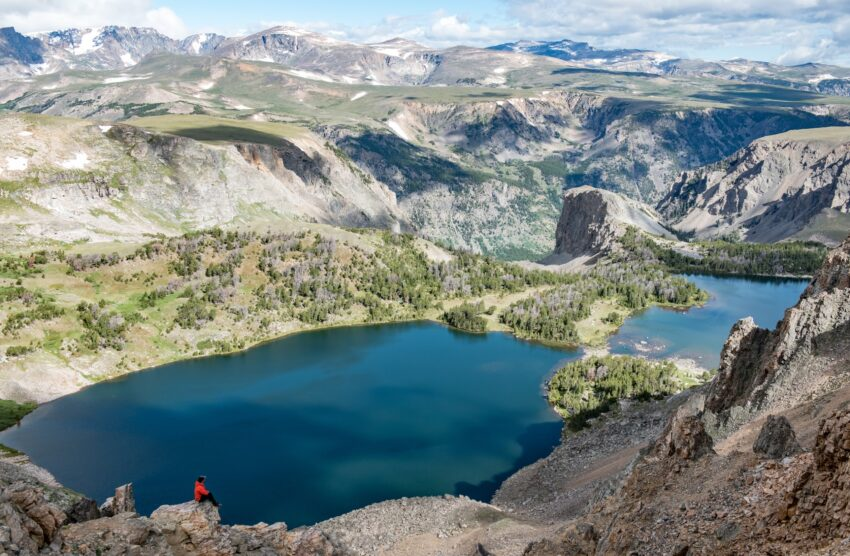 Along the highway, the Twin Lakes pullout is a great spot to stretch the legs with a short hike.