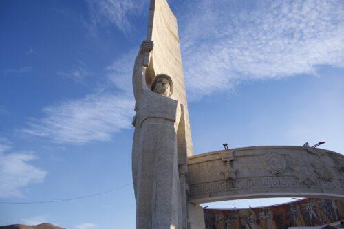 Zaisan Memorial statue
