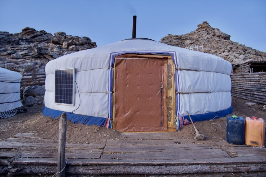 The living ger. Our host had only arrived at his winter camp a day before. Testament to Mongolia's hospitality.
