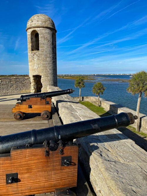 Cannons at Castillo de San Marcos were fired to fend off pirates and military rivals.