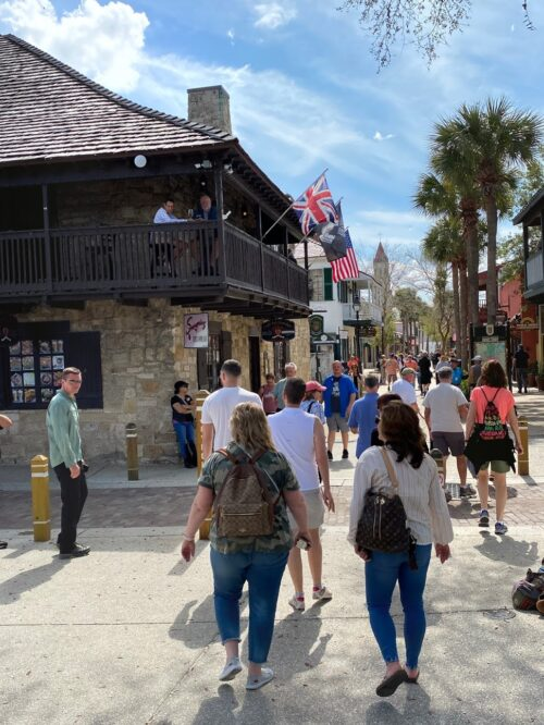 St. George Street is a pedestrian-only path through the heart of old St. Augustine.