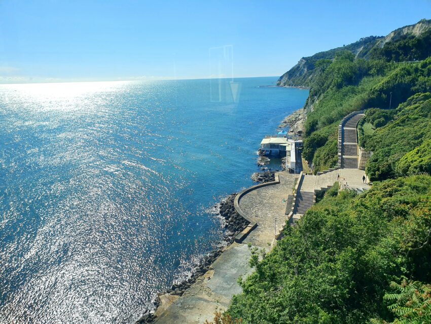 View from Ancona of the Adriatic sea