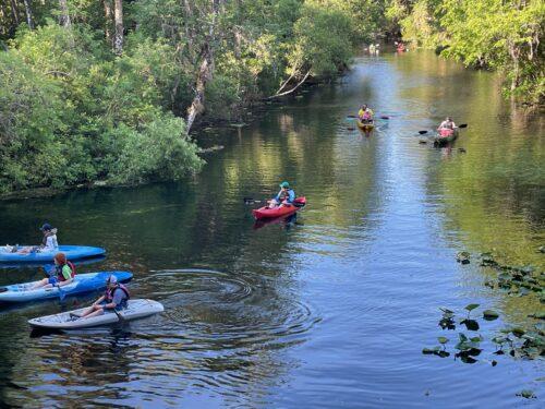 Kayaking at Silver Springs in Ocala, Florida.