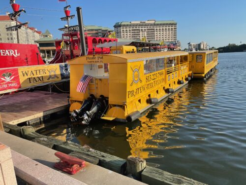 Water taxis ply the Tampa Bay taking tourists where they want to go.