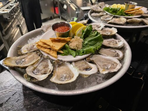 Ulele Oysters on the halfshell.