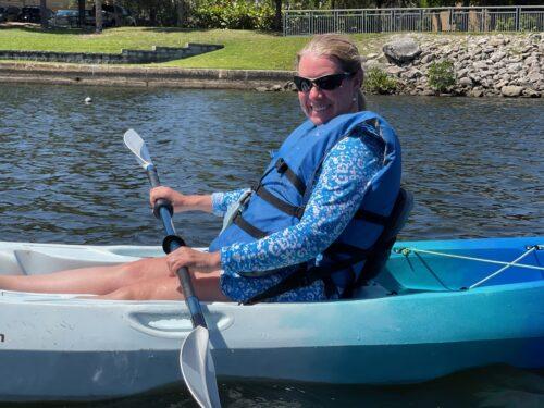 Paddling the Hillsborough River in Tampa.