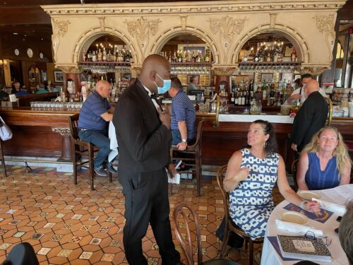 At the Columbia Restaurant, tuxedoed waiters serve thousands of diners in their dozens of dining rooms every day, since 1905.