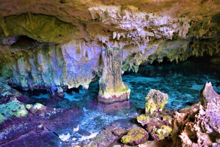 Inside Dos Ojos Cenote