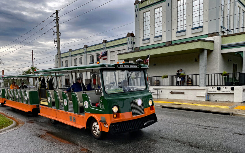 The Old Town Trolley makes hop-on-hop-off stops at some of the 60 historic sites in St. Augustine.