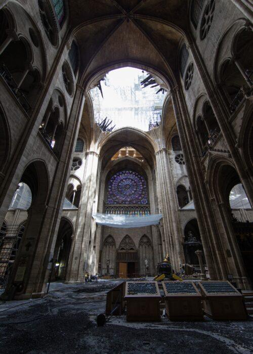 Post-fire interior vault Friends of Notre Dame de Paris Photos
