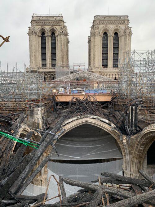 Post-fire scaffolding removal Friends of Notre Dame de Paris Photos