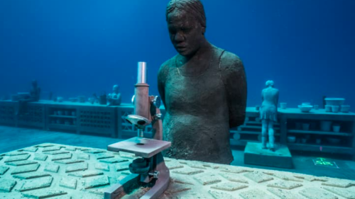 A reef guardian. Museum of Underwater Art photo.