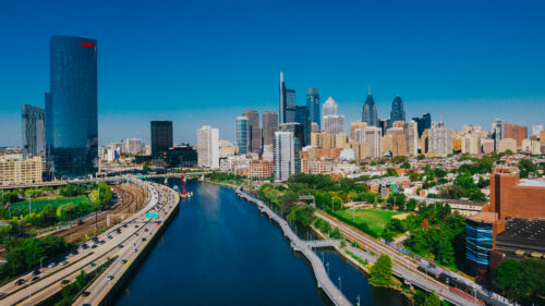 South Street Bridge. Photo by Elevated Angles for VISIT PHILADELPHIA®