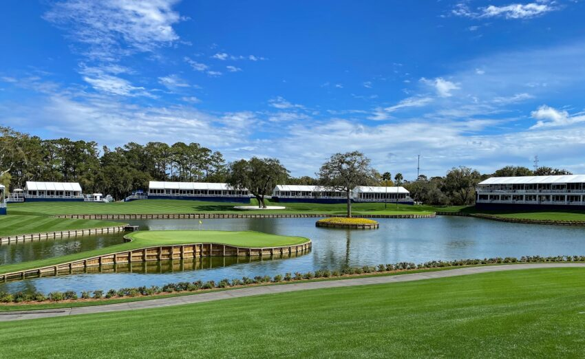 One of the most legendary holes in golf, the 17th on the Stadium Course at TPC Sawgrass, has challenged Tiger Woods and other golf greats. Thousands of golf fans turn out to watch during The Players Championship every March.