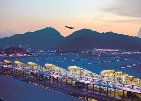Terminal 1 exterior. Hong Kong International Airport Photos.
