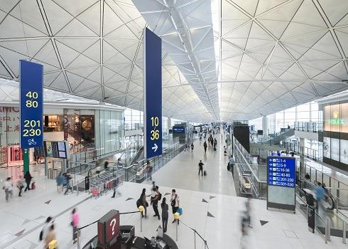 Terminal 1 Interior. Hong Kong International Airport Photos.