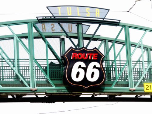 Tulsa Route 66 marker Photo by Beth Reiber