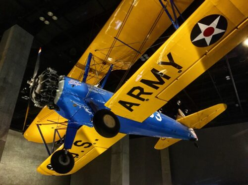 AFRICAN AMERICAN MUSEUM: A plane used by the Tuskegee airmen.