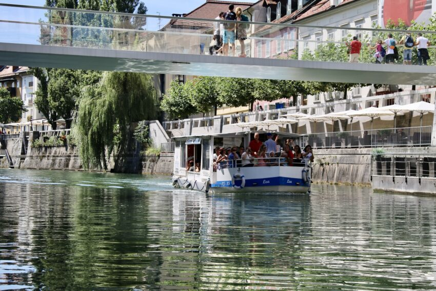 Sitting outside on the front deck is a photographers dream to capture the beauty of Ljubljana.