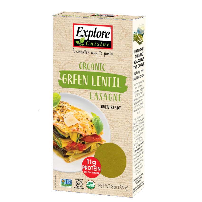 Explore Cuisine Organic green lentil lasagna
