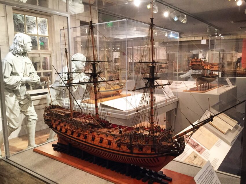 US NAVAL ACADEMY MUSEUM has the largest collection of model ships in the U.S.
