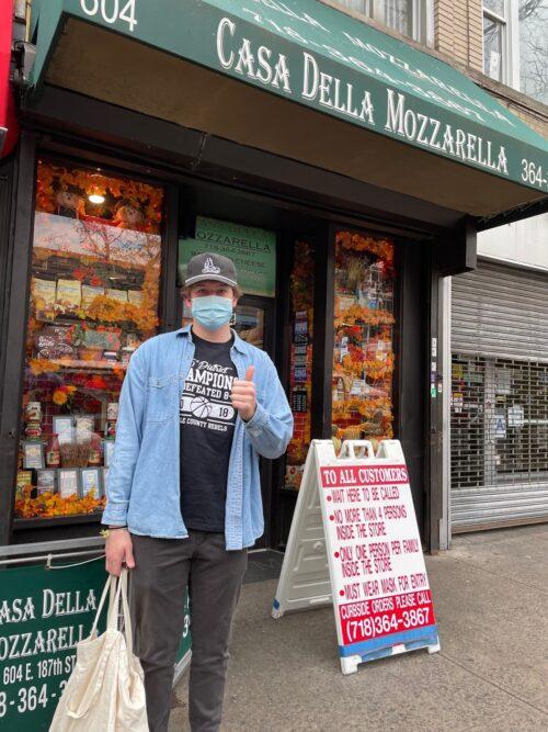 Casa Della Mozzarella on Arthur Avenue in the Bronx. Cathie Arquilla Tom Arquilla photos.