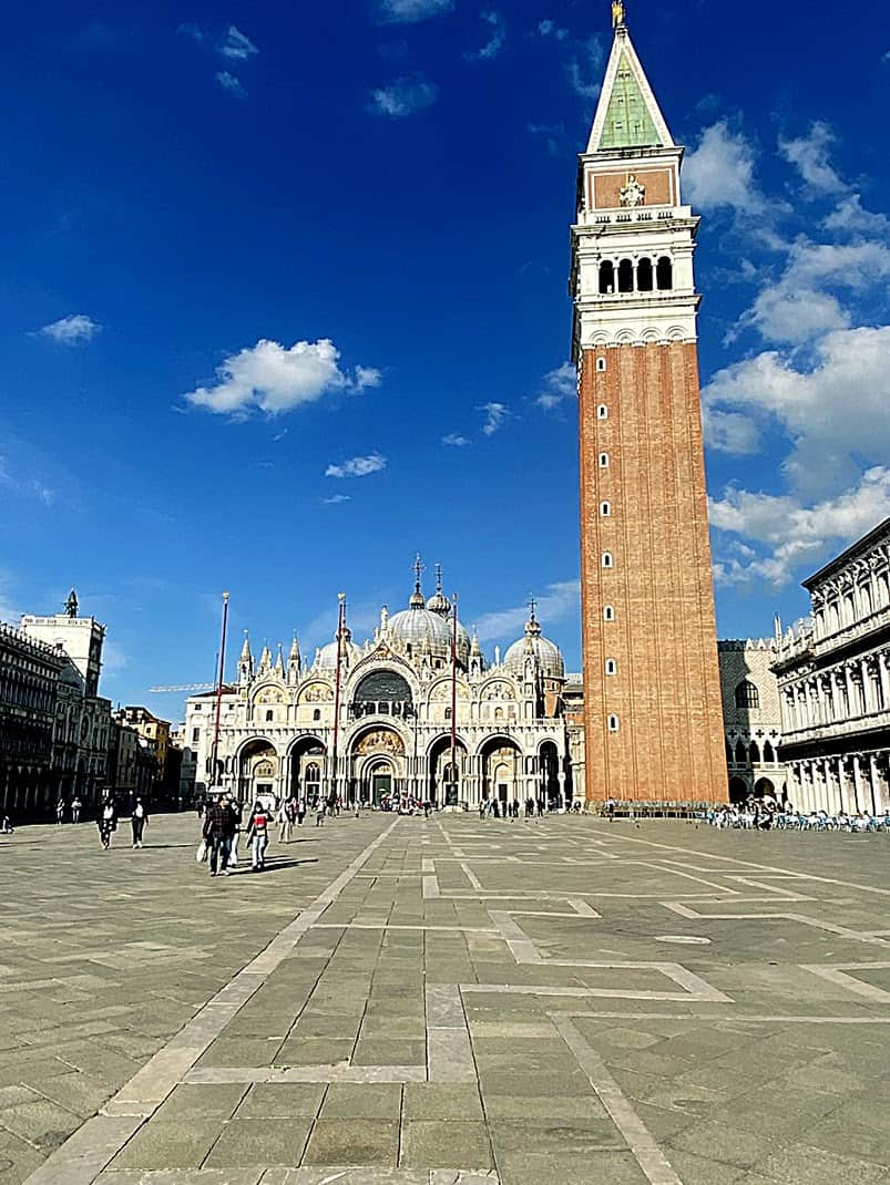 St Marks Square, minus the usual throngs in Venice.