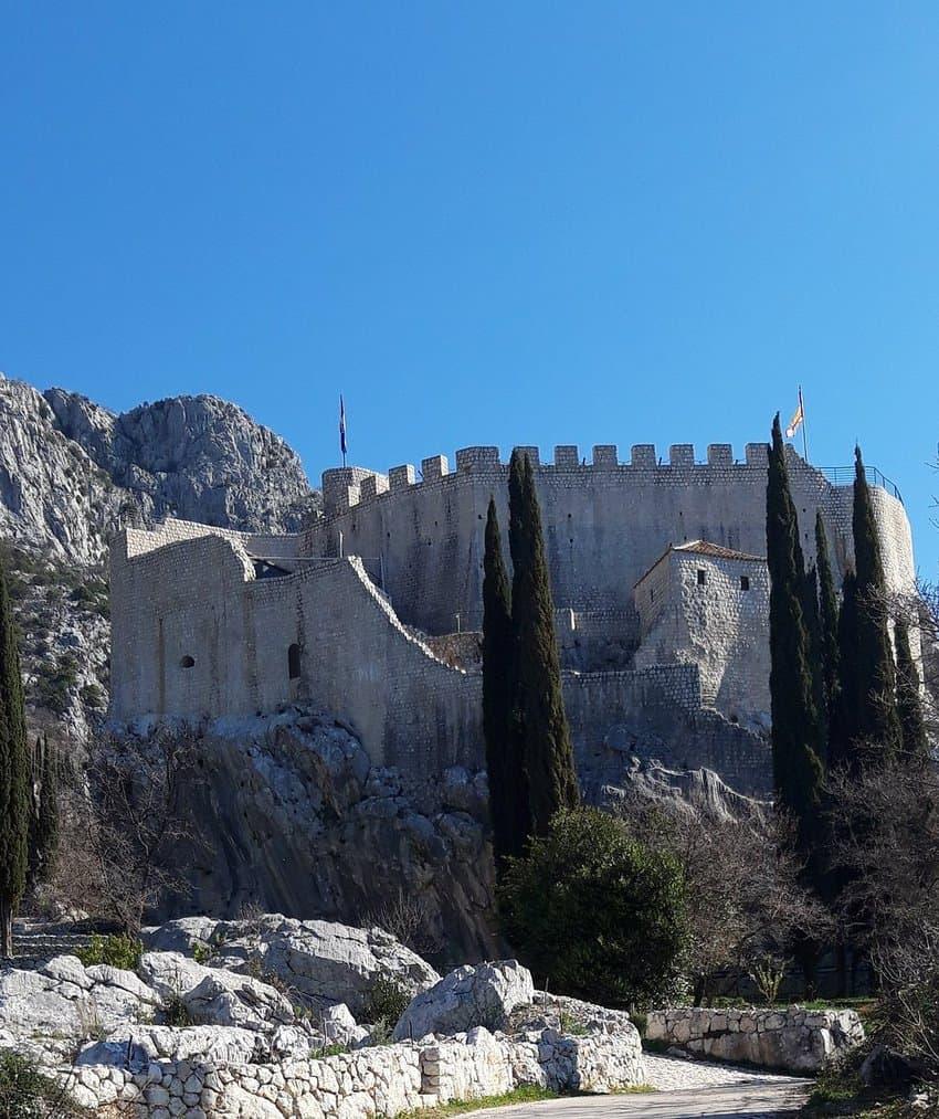 The Sokol, or old castle in Konavle, Croatia.