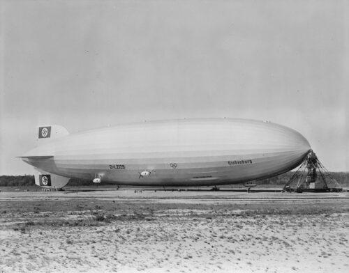 Hindenburg at Lakehurst in NJ.