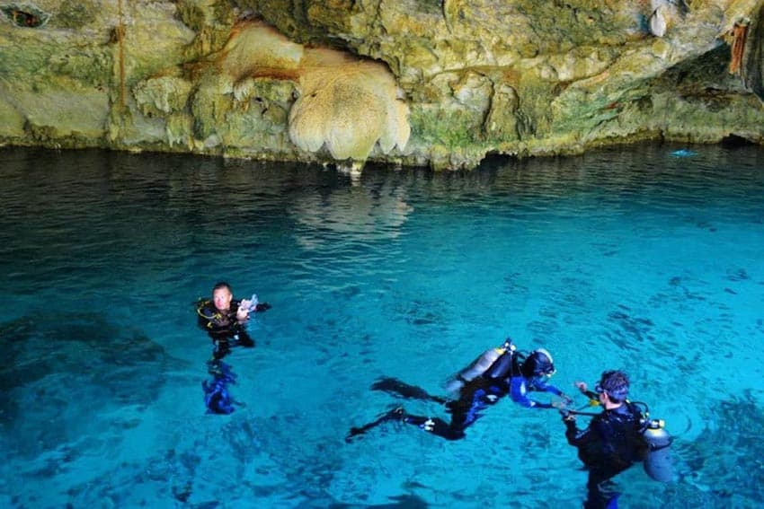 Diving into Crystalline Cenotes of the Yucatan