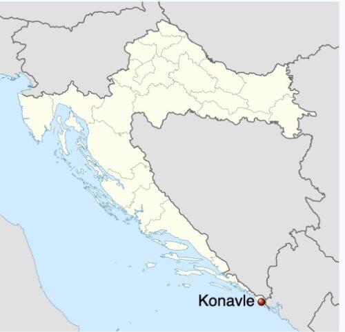 Konavle is on the very southern tip of Croatia.