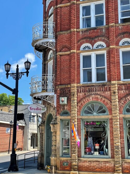 The architecture in downtown Lewisburg WVA is striking.