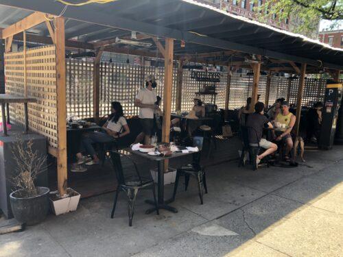 sahadis dining outdoors