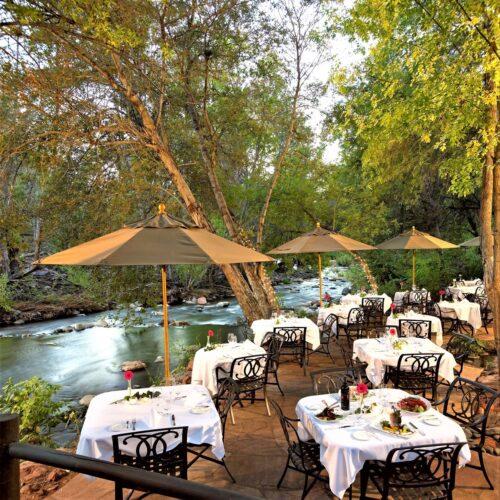 Dining at Cress on Oak Creek at LAuberge Sedona