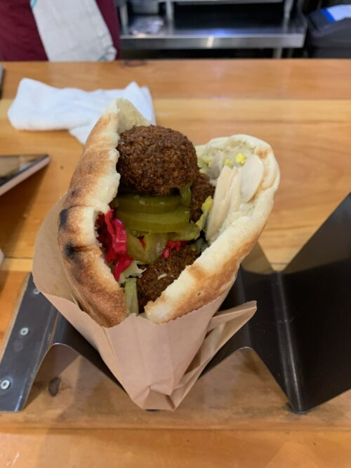 Falafal from Yalla Vermont. Aysia Reed Photos.