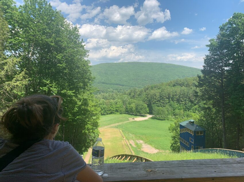 View from the top of the Harris Hill Ski Jump. Aysia Reed Photos.