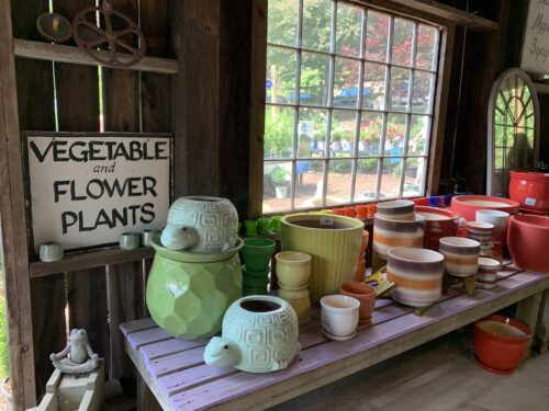 An endless amount of pots for planting. Aysia Reed photos. Brattleboro