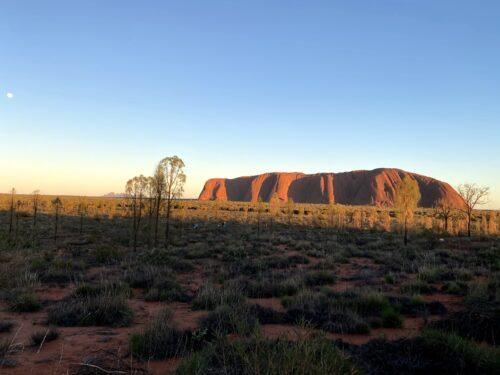 Sunrise over Uluru in Australia.