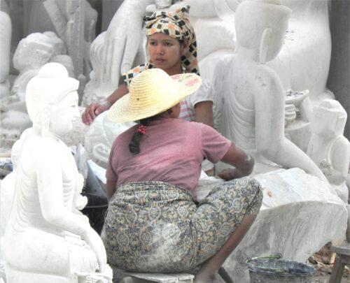 Mandalay stone polishing
